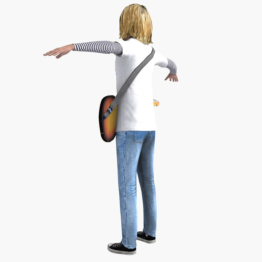 Kurt Cobain royalty-free 3d model - Preview no. 14
