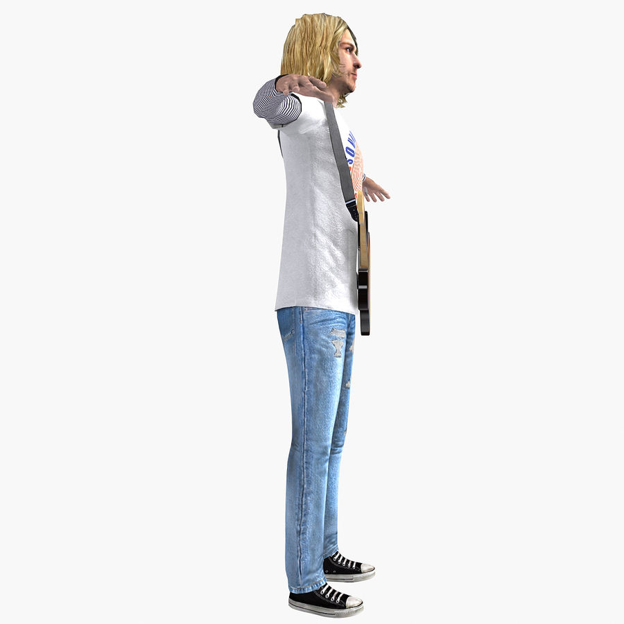 Kurt Cobain royalty-free 3d model - Preview no. 12