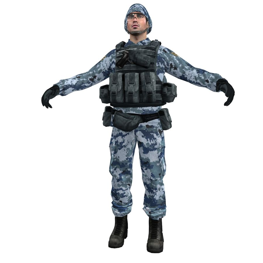 Soldier full 3 royalty-free 3d model - Preview no. 3