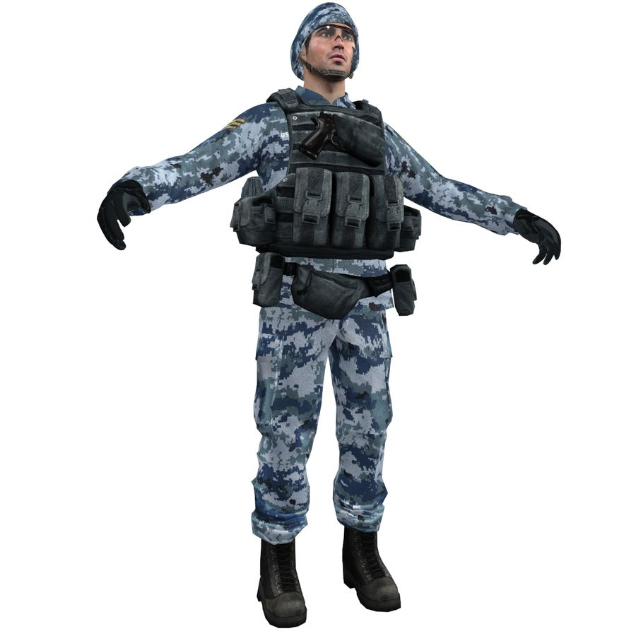 Soldier full 3 royalty-free 3d model - Preview no. 1
