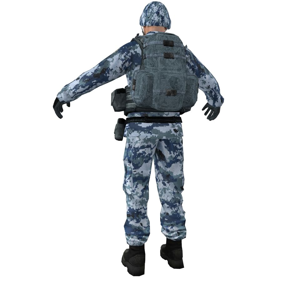 Soldier full 3 royalty-free 3d model - Preview no. 5