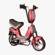 만화 스쿠터 오토바이 3d model