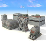 Sci-Fi Building City Futuristic 3d model