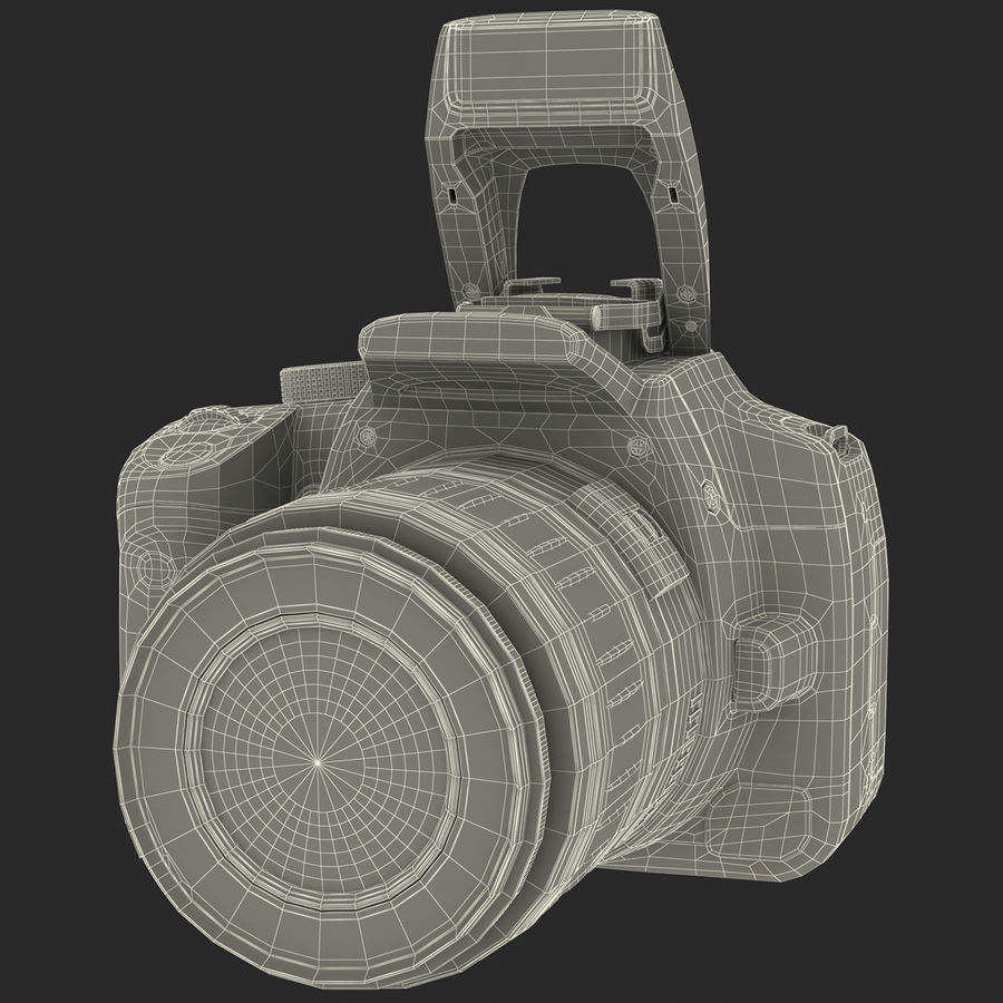 Dijital SLR Fotoğraf Makinesi Canon EOS 350D royalty-free 3d model - Preview no. 27