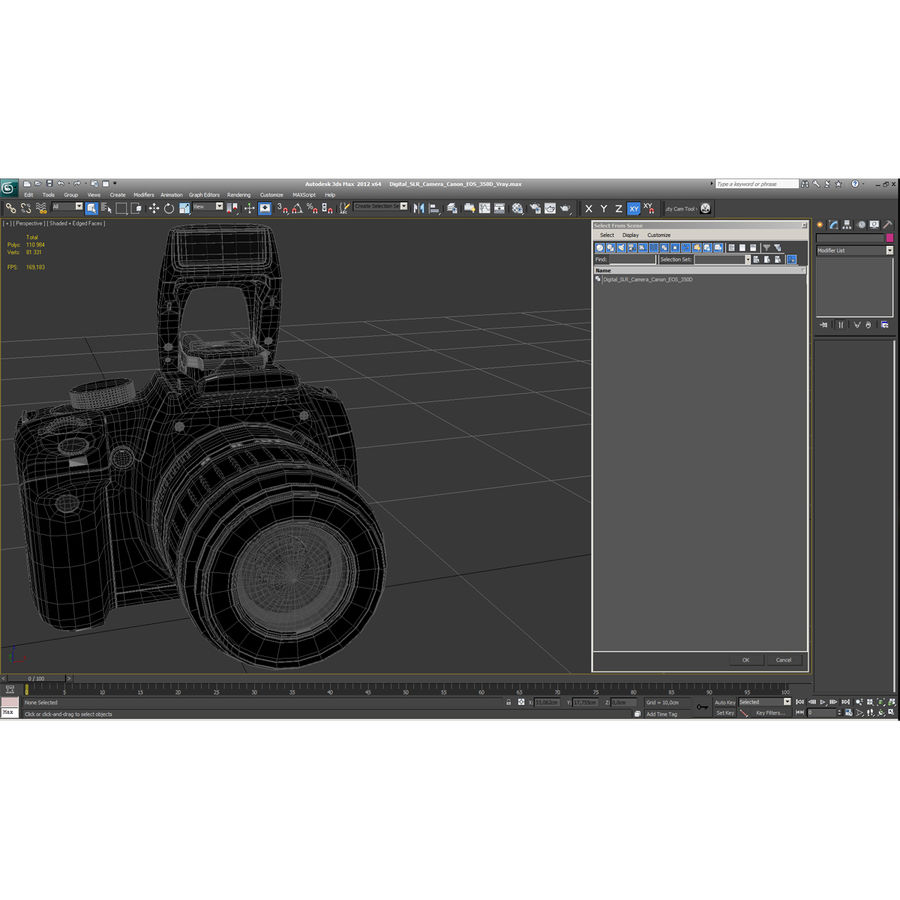 Dijital SLR Fotoğraf Makinesi Canon EOS 350D royalty-free 3d model - Preview no. 41