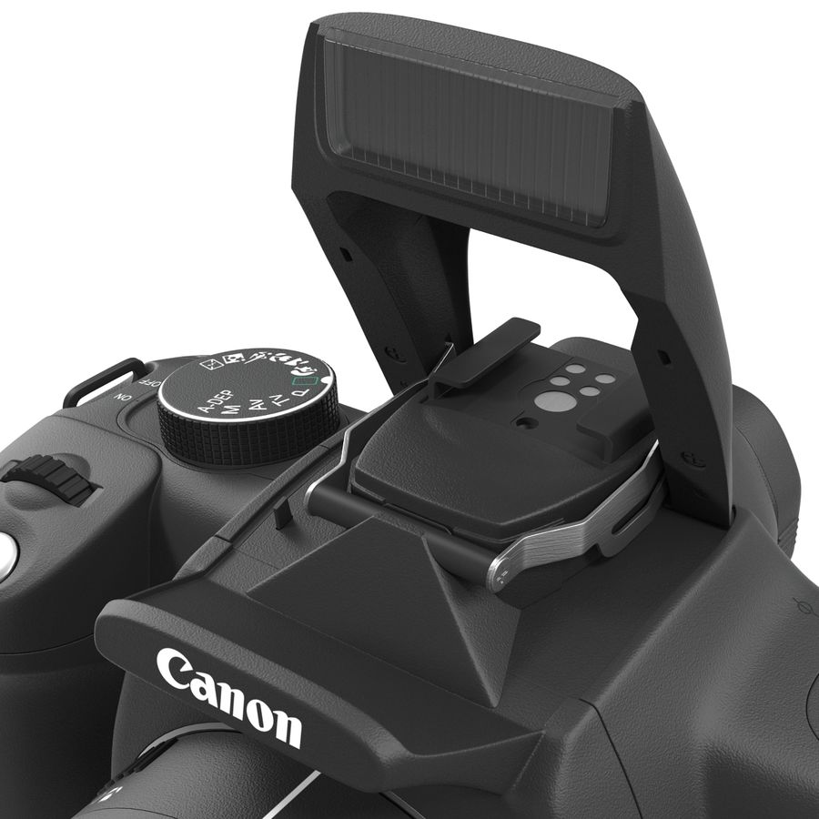 Dijital SLR Fotoğraf Makinesi Canon EOS 350D royalty-free 3d model - Preview no. 24