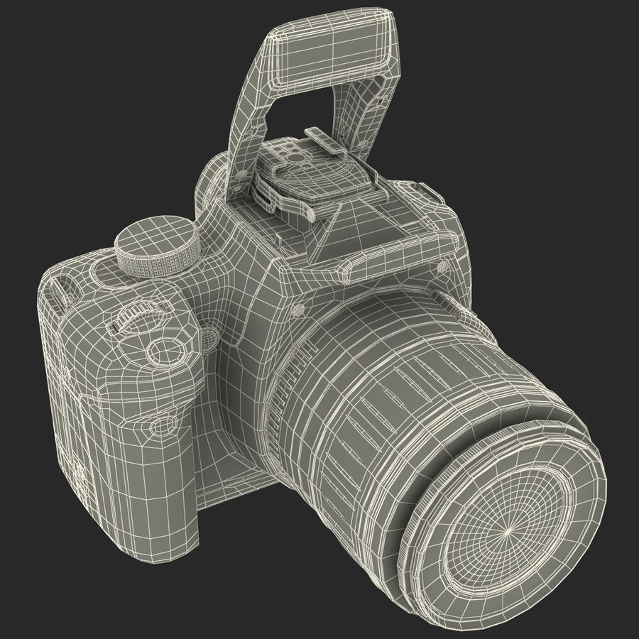 Dijital SLR Fotoğraf Makinesi Canon EOS 350D royalty-free 3d model - Preview no. 36