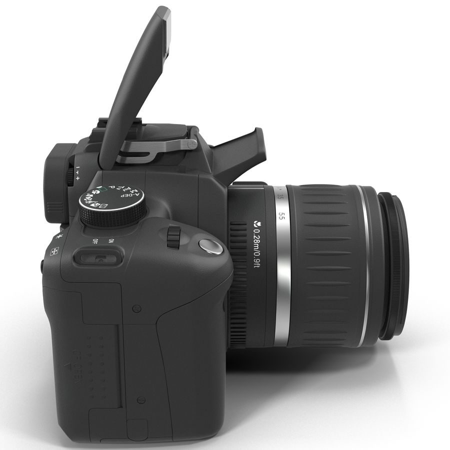 Dijital SLR Fotoğraf Makinesi Canon EOS 350D royalty-free 3d model - Preview no. 6