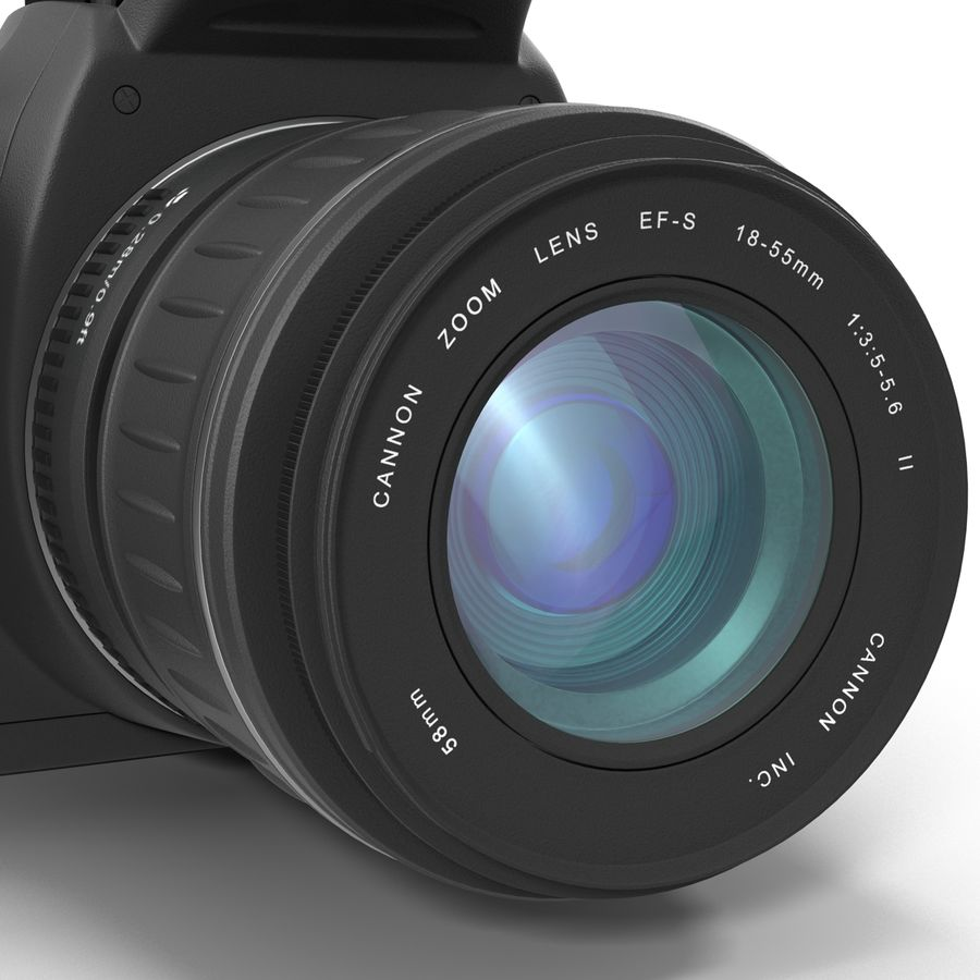 Dijital SLR Fotoğraf Makinesi Canon EOS 350D royalty-free 3d model - Preview no. 22