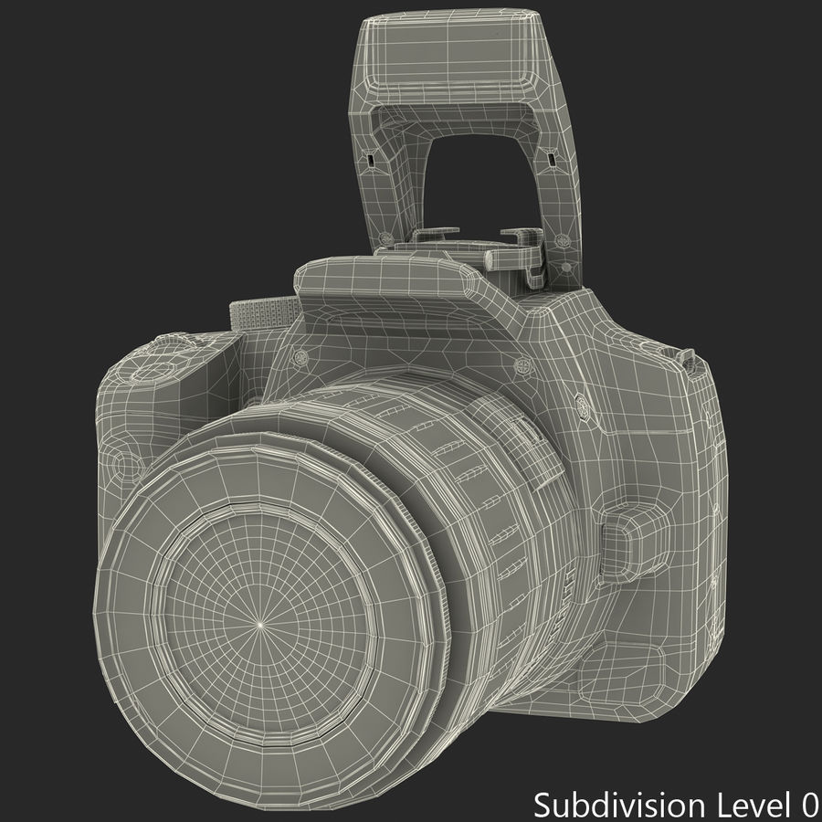 Dijital SLR Fotoğraf Makinesi Canon EOS 350D royalty-free 3d model - Preview no. 30