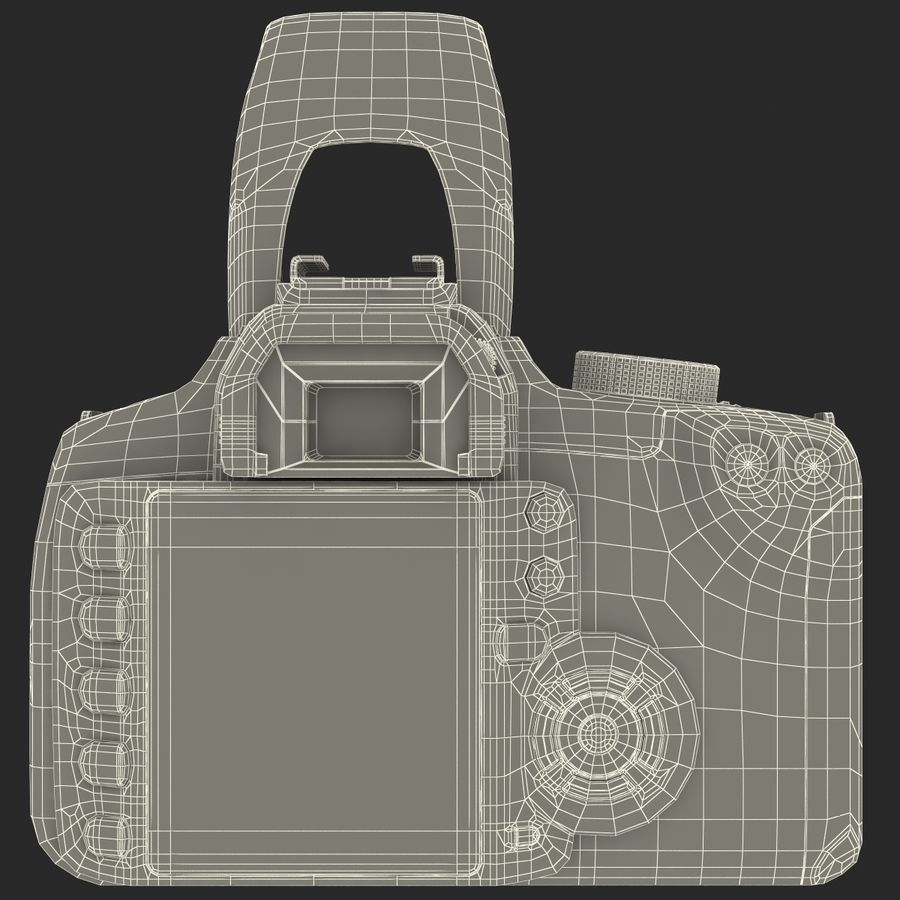 Dijital SLR Fotoğraf Makinesi Canon EOS 350D royalty-free 3d model - Preview no. 29