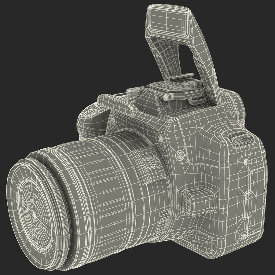 Dijital SLR Fotoğraf Makinesi Canon EOS 350D royalty-free 3d model - Preview no. 35