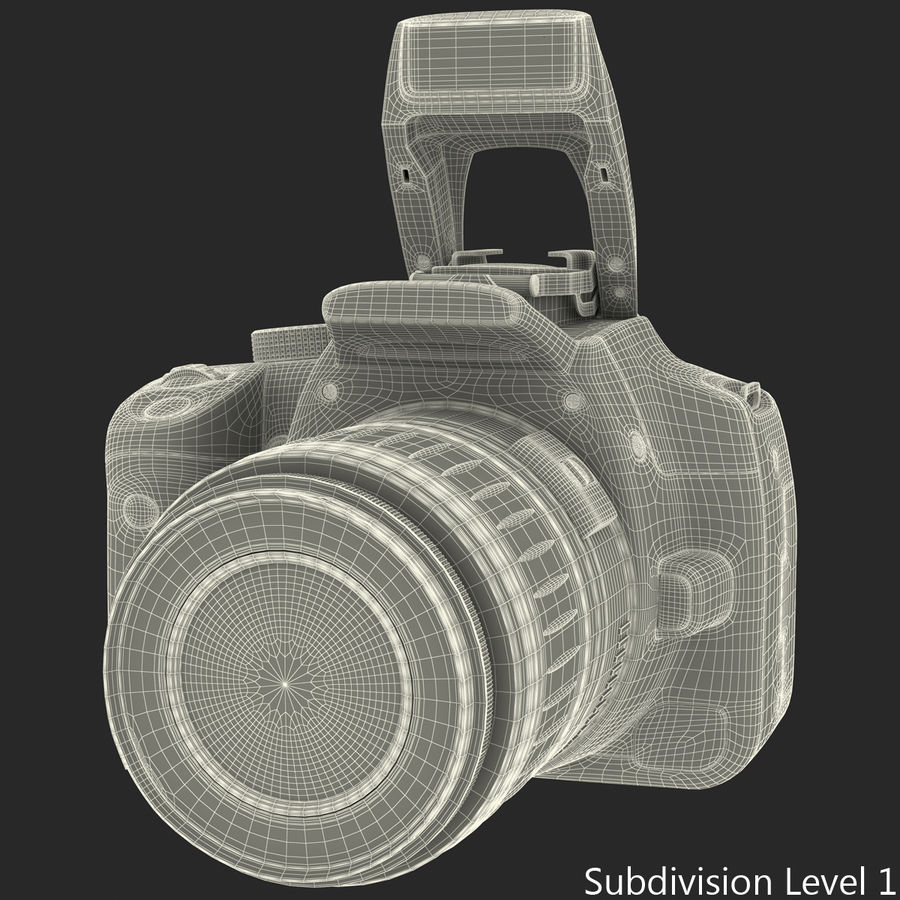 Dijital SLR Fotoğraf Makinesi Canon EOS 350D royalty-free 3d model - Preview no. 32