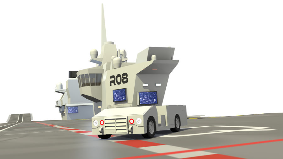 HMS Queen Elizabeth Aircraft Carrier royalty-free 3d model - Preview no. 14