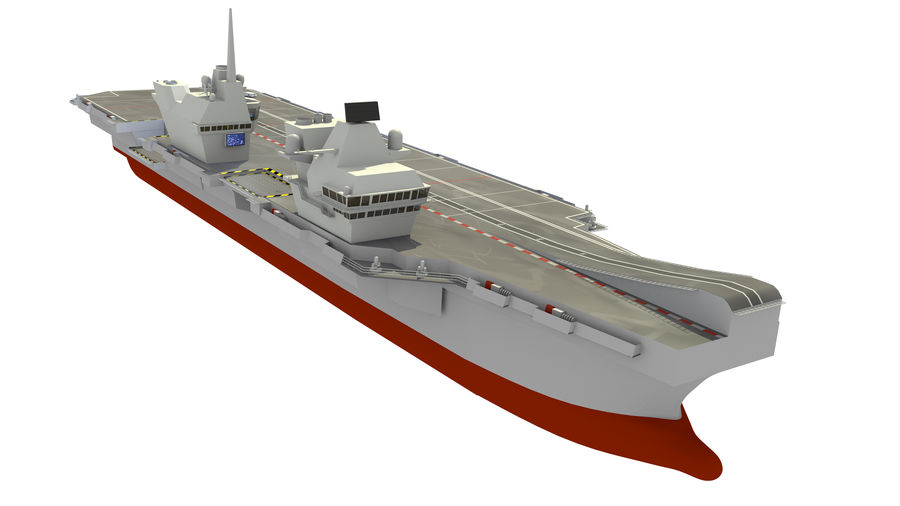 HMS Queen Elizabeth Aircraft Carrier royalty-free 3d model - Preview no. 1