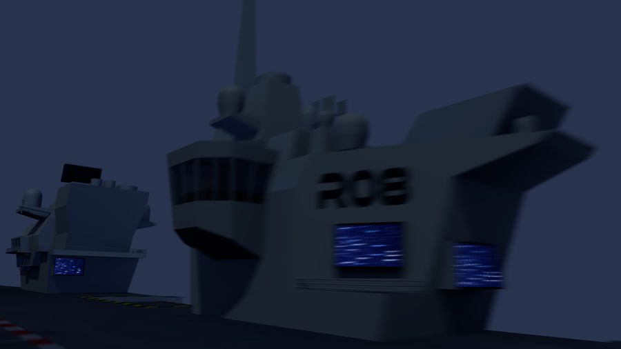 HMS Queen Elizabeth Aircraft Carrier royalty-free 3d model - Preview no. 10