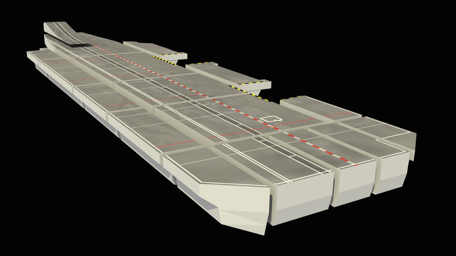 HMS Queen Elizabeth Aircraft Carrier royalty-free 3d model - Preview no. 18