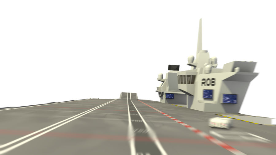 HMS Queen Elizabeth Aircraft Carrier royalty-free 3d model - Preview no. 4