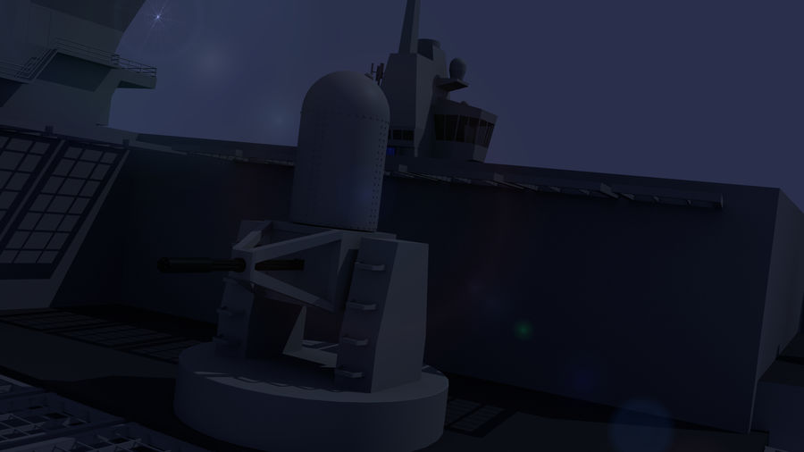 HMS Queen Elizabeth Aircraft Carrier royalty-free 3d model - Preview no. 16