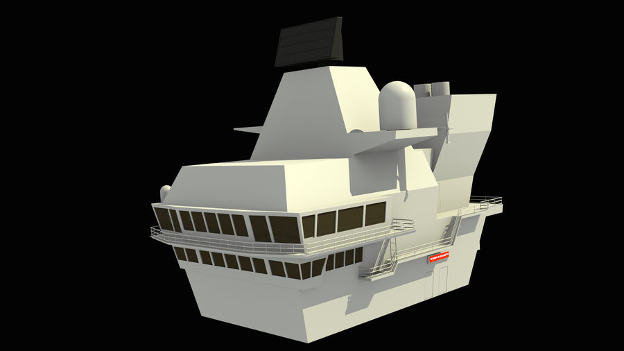 HMS Queen Elizabeth Aircraft Carrier royalty-free 3d model - Preview no. 20