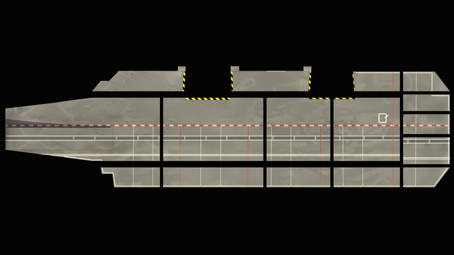 HMS Queen Elizabeth Aircraft Carrier royalty-free 3d model - Preview no. 17