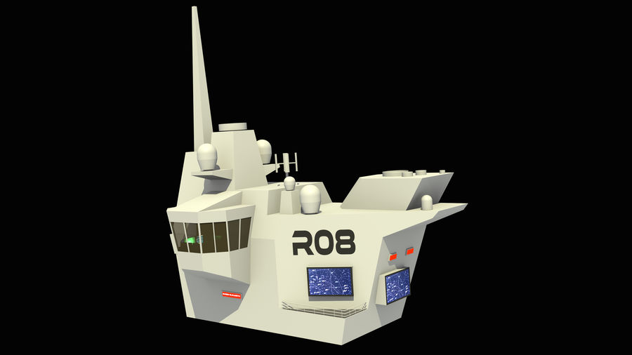 HMS Queen Elizabeth Aircraft Carrier royalty-free 3d model - Preview no. 19
