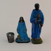 宗教的な置物小像 3d model