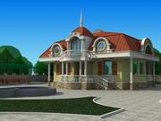 2 våningar hus 3d model