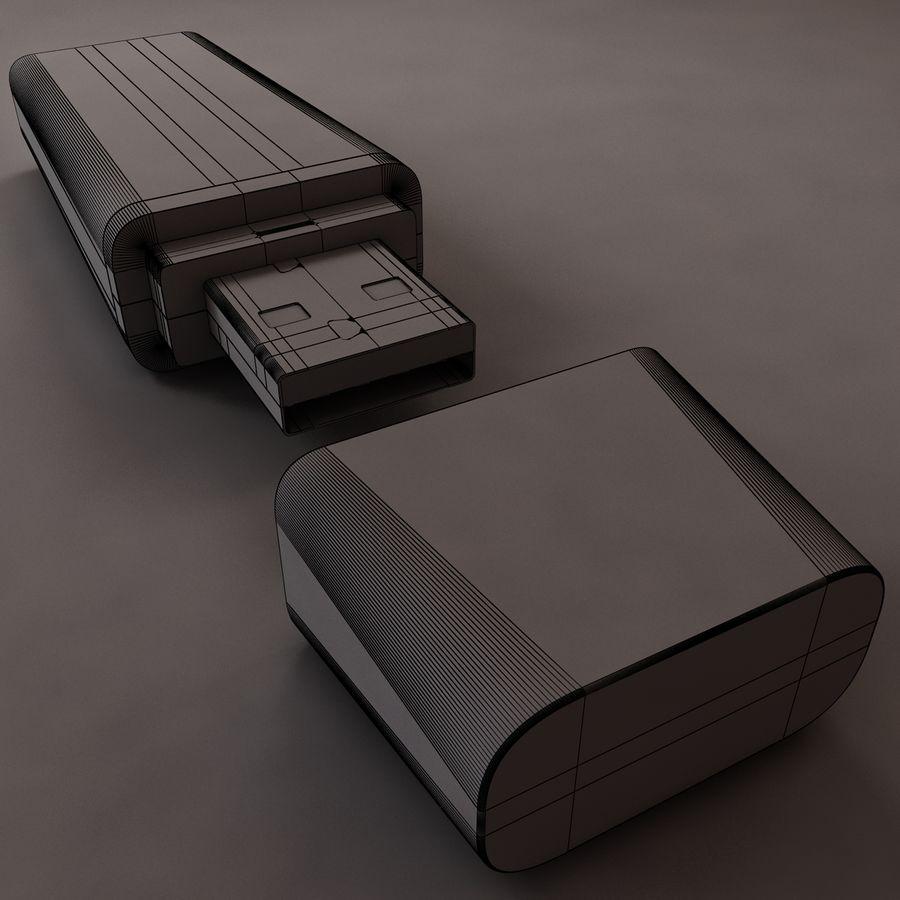 USB sürücüsü royalty-free 3d model - Preview no. 6