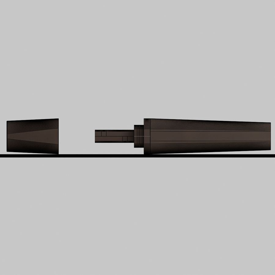 USB sürücüsü royalty-free 3d model - Preview no. 8