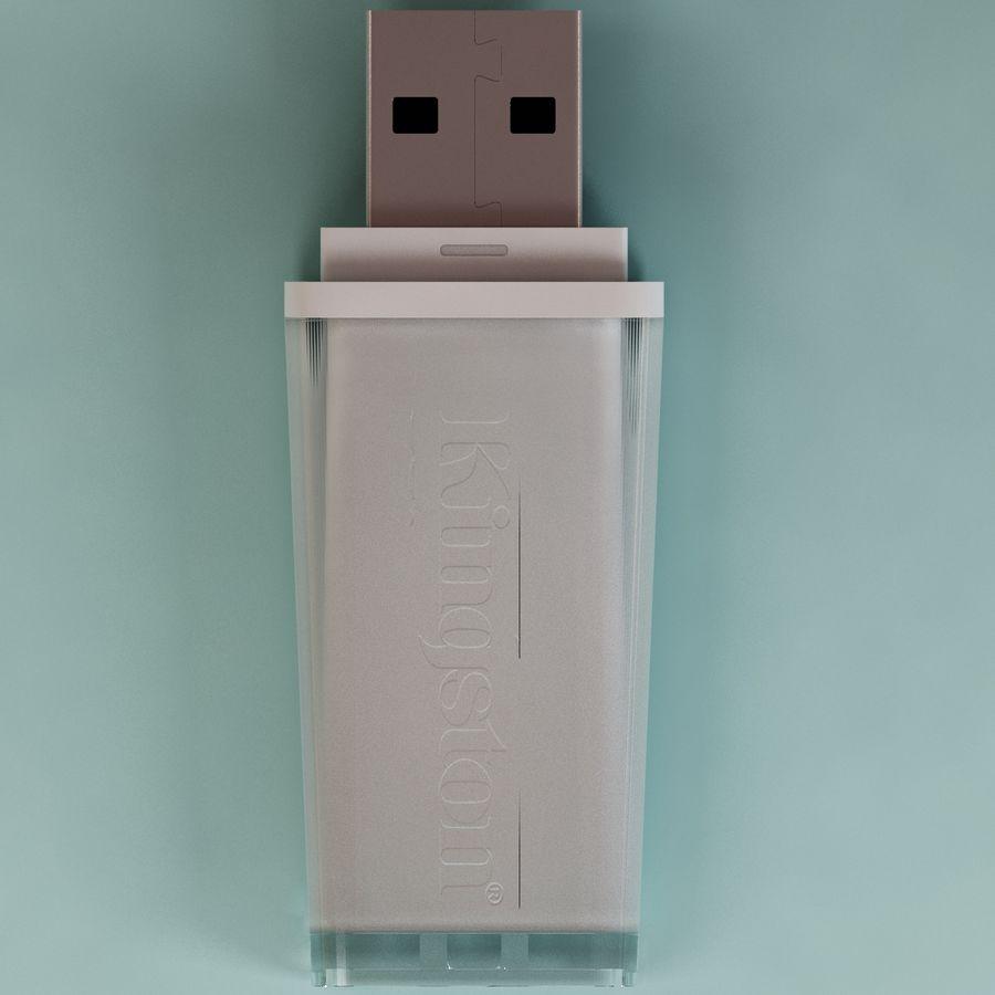 USB sürücüsü royalty-free 3d model - Preview no. 5