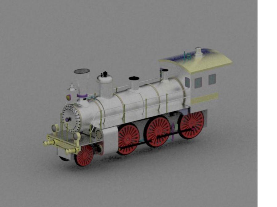 玩具火车 royalty-free 3d model - Preview no. 7