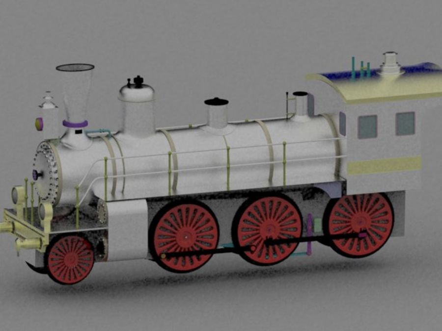 Trem de brinquedo royalty-free 3d model - Preview no. 5