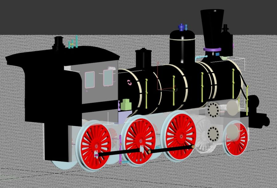 Oyuncak tren royalty-free 3d model - Preview no. 3