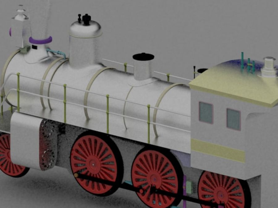 玩具火车 royalty-free 3d model - Preview no. 6