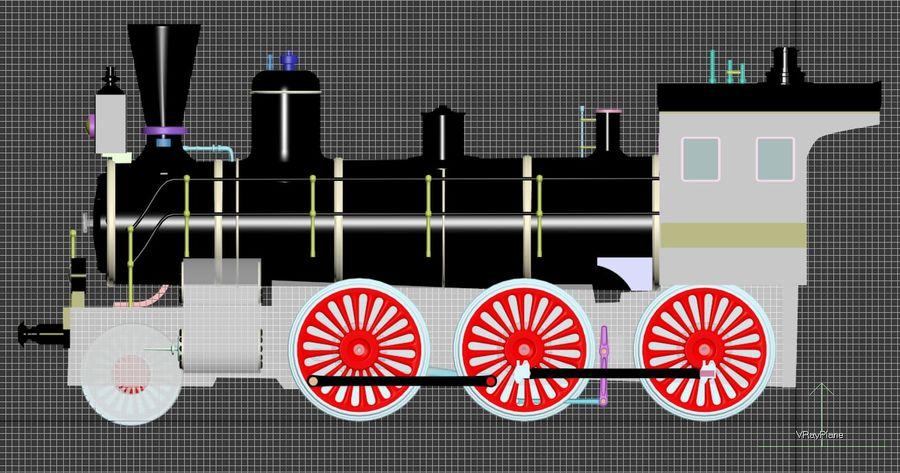Oyuncak tren royalty-free 3d model - Preview no. 9