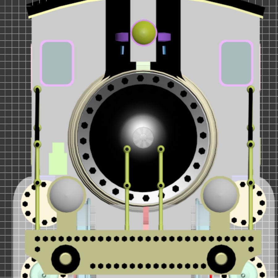 Trem de brinquedo royalty-free 3d model - Preview no. 2