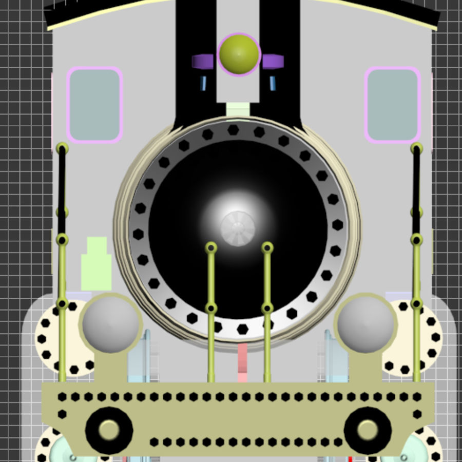 Oyuncak tren royalty-free 3d model - Preview no. 2