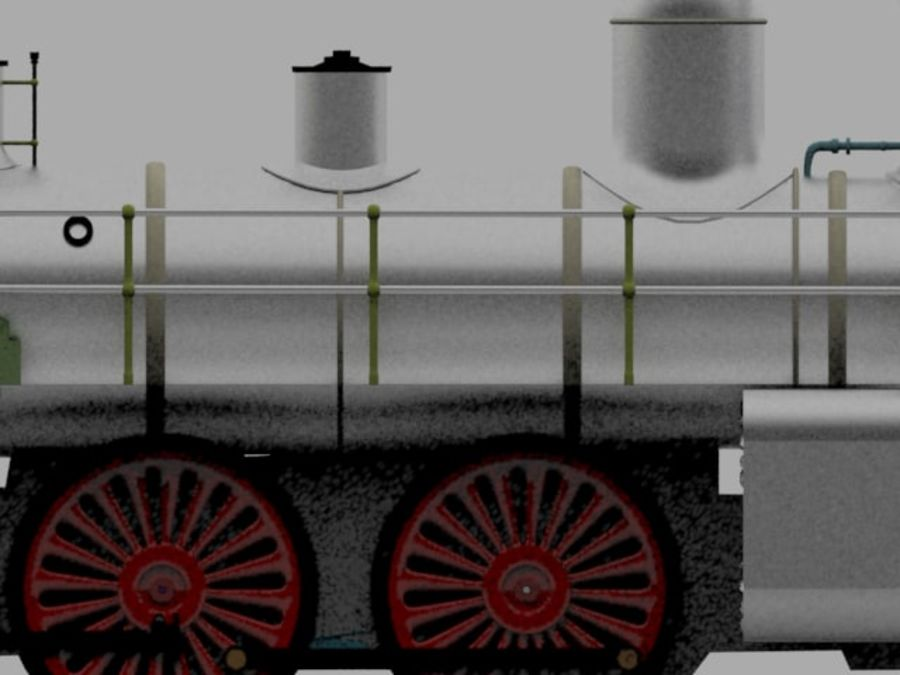 Oyuncak tren royalty-free 3d model - Preview no. 4