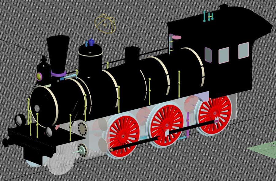 Oyuncak tren royalty-free 3d model - Preview no. 8