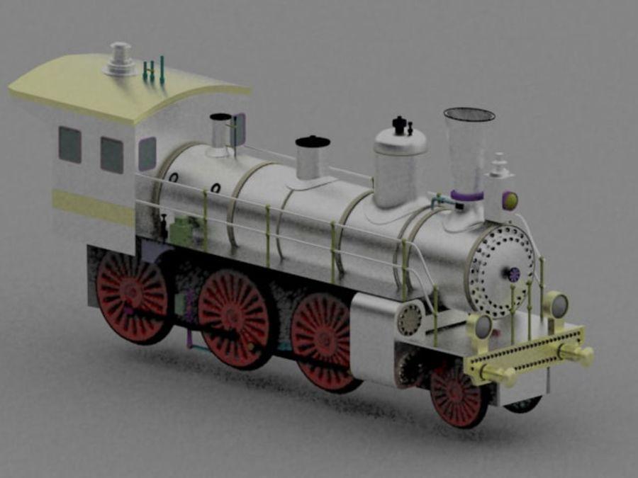 Trem de brinquedo royalty-free 3d model - Preview no. 1