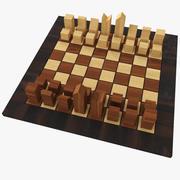 Schaken (minimaal) 3d model