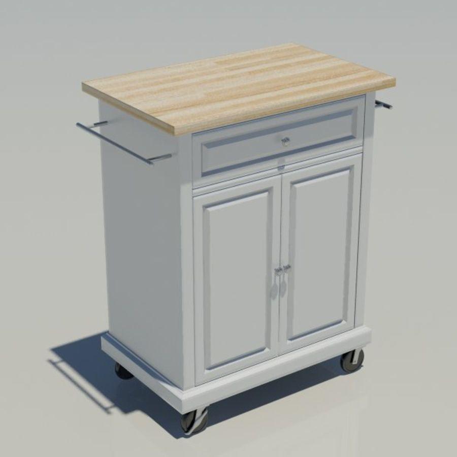 Petit chariot de cuisine royalty-free 3d model - Preview no. 3