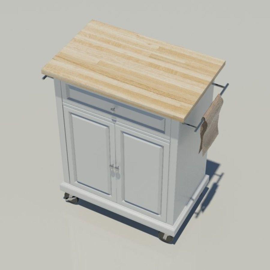 Petit chariot de cuisine royalty-free 3d model - Preview no. 4