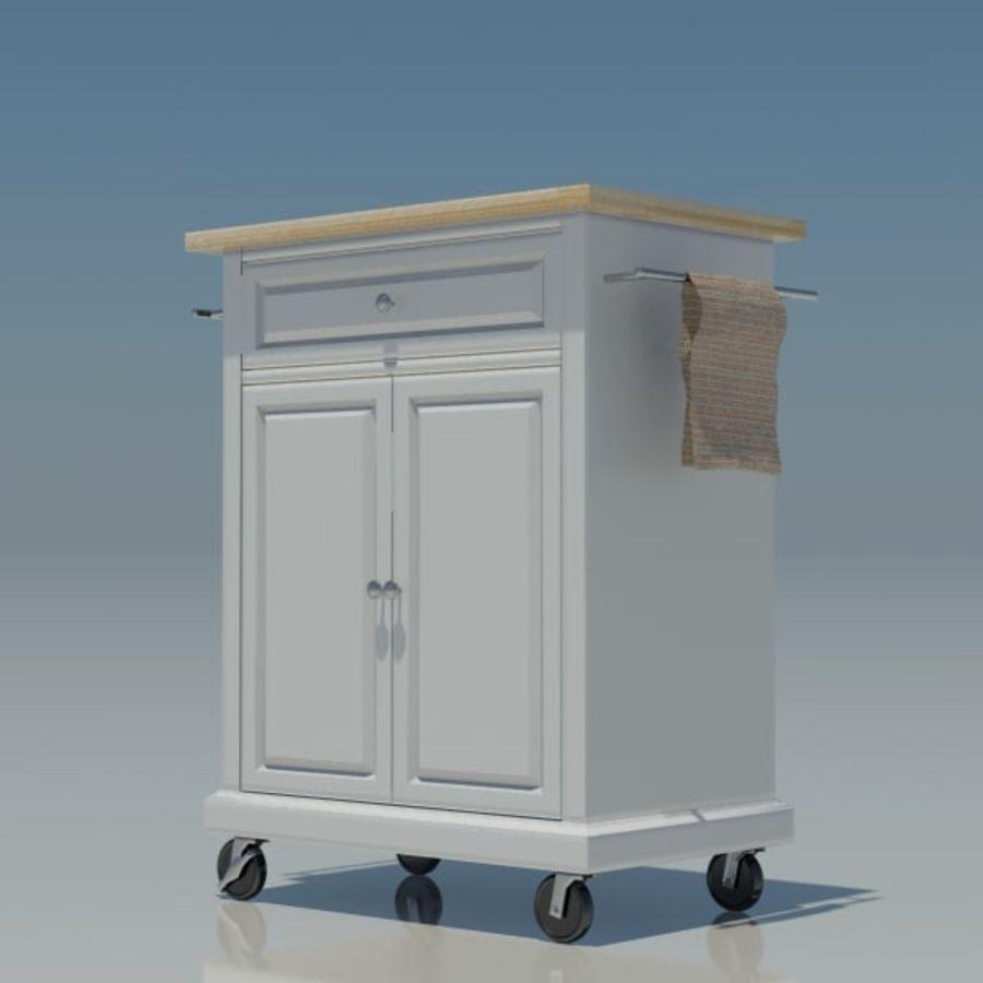 Petit chariot de cuisine royalty-free 3d model - Preview no. 5