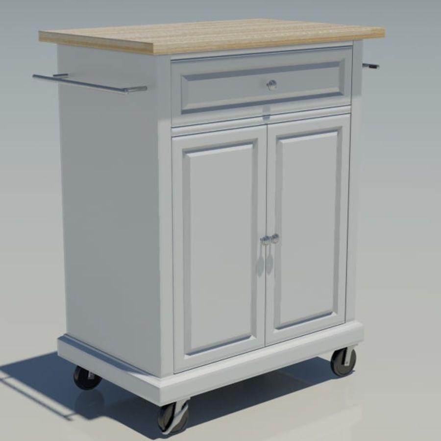 Petit chariot de cuisine royalty-free 3d model - Preview no. 6