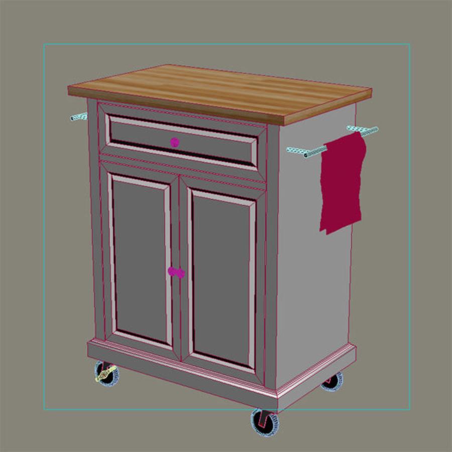 Petit chariot de cuisine royalty-free 3d model - Preview no. 8