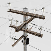 Post kraftledning 3d model