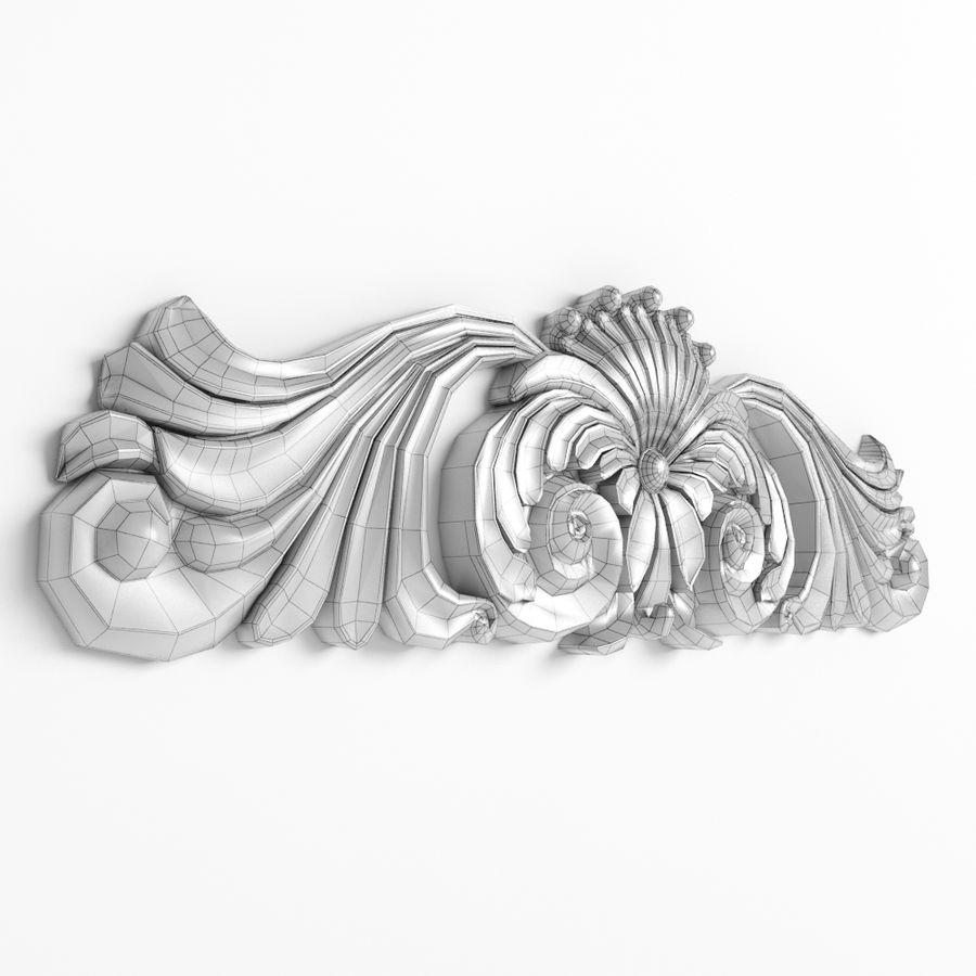 Rzeźbiony wystrój royalty-free 3d model - Preview no. 5