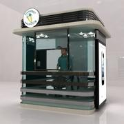 공공 내각 간이 건축물 3d model